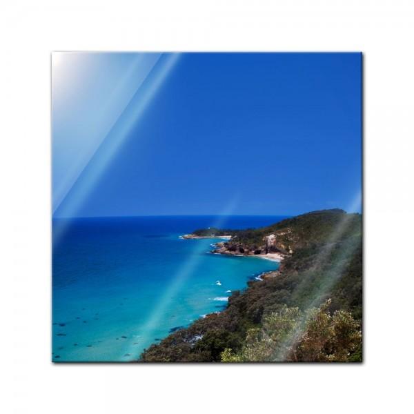 Glasbild - Oasis Island Paradise