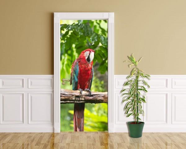 Türaufkleber - Macaw Papageien