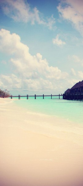 Türtapete selbstklebend Traumstrand Vintage 90 x 200 cm Sonne Meer Strand Ozean Urlaub Reise Paradi