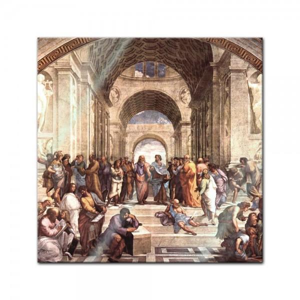 Glasbild Raffael - Alte Meister - Die Schule von Athen