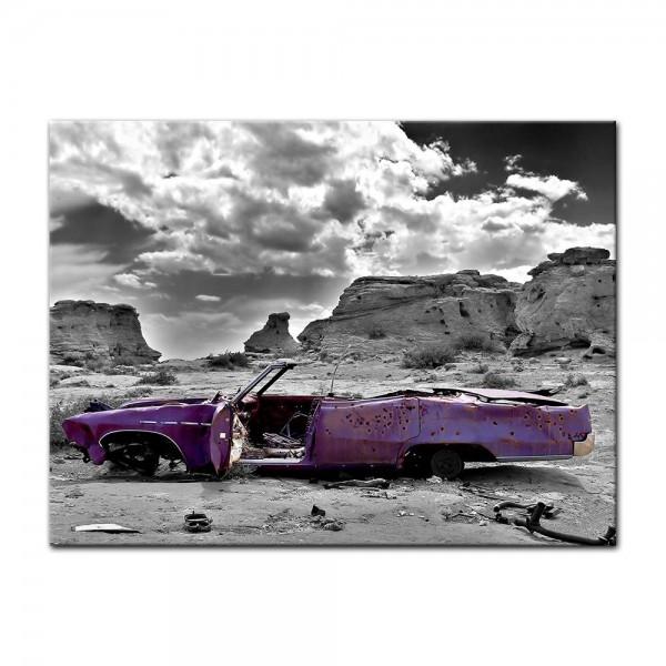 Leinwandbild - Cadillac - pink