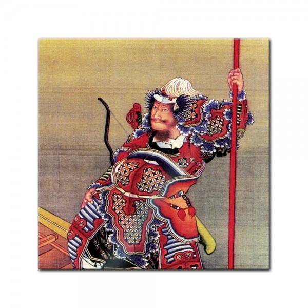 Glasbild Katsushika Hokusai - Alte Meister - Krieger im Boot