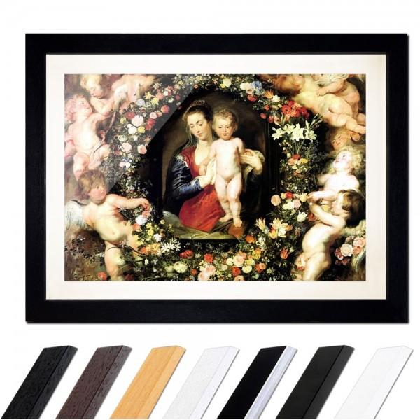 Peter Paul Rubens - Madonna im Blumenkranz