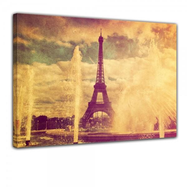 SALE Leinwandbild - Eiffelturm im Retrostyle - Paris Frankreich - 60x50 cm