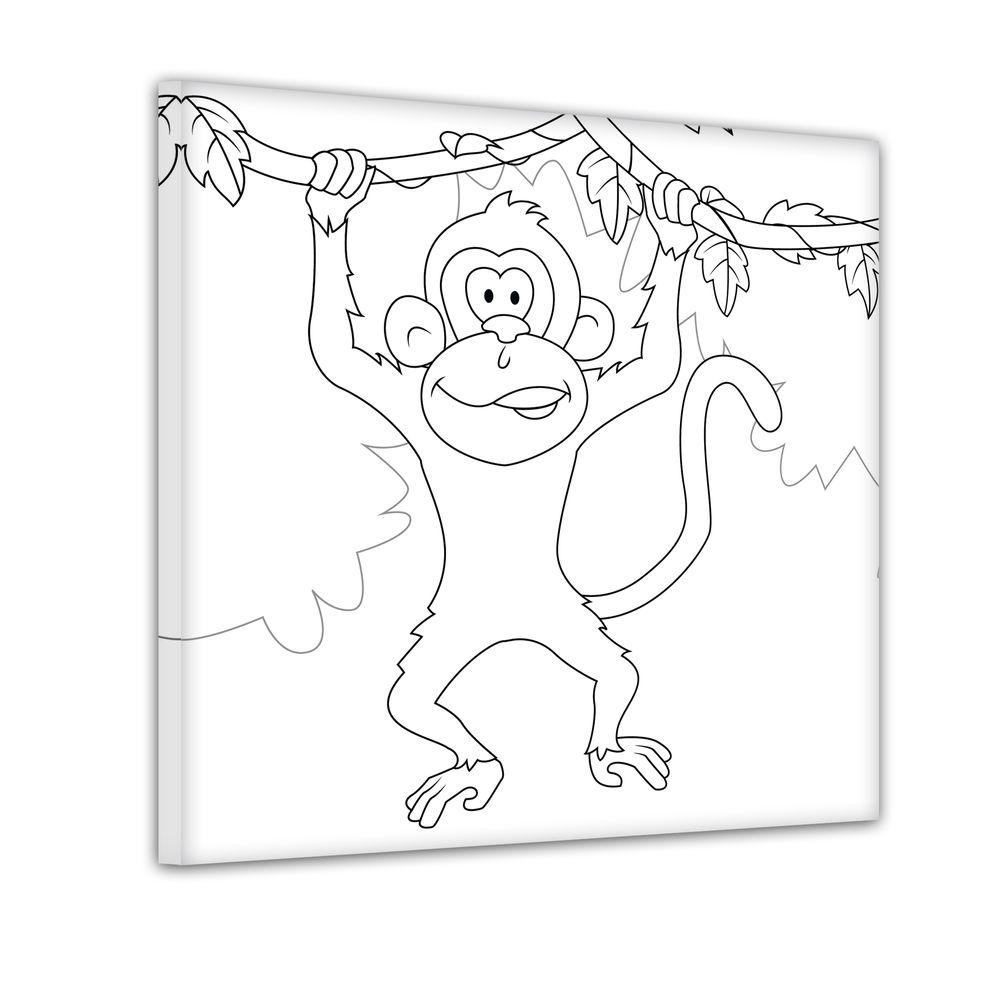 schwingender Affe - Ausmalbild