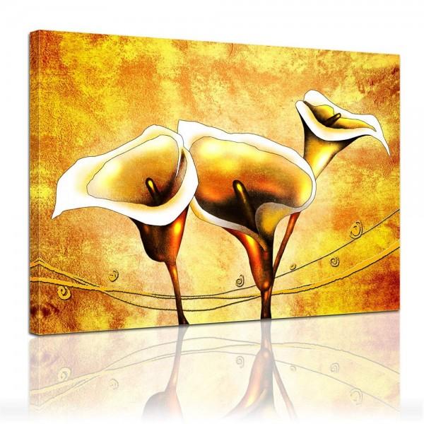 Leinwandbild - Calla - Trompetenblumen
