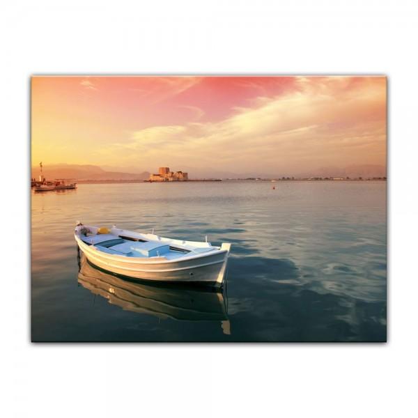 Leinwandbild - traditionelles griechisches Fischerboot