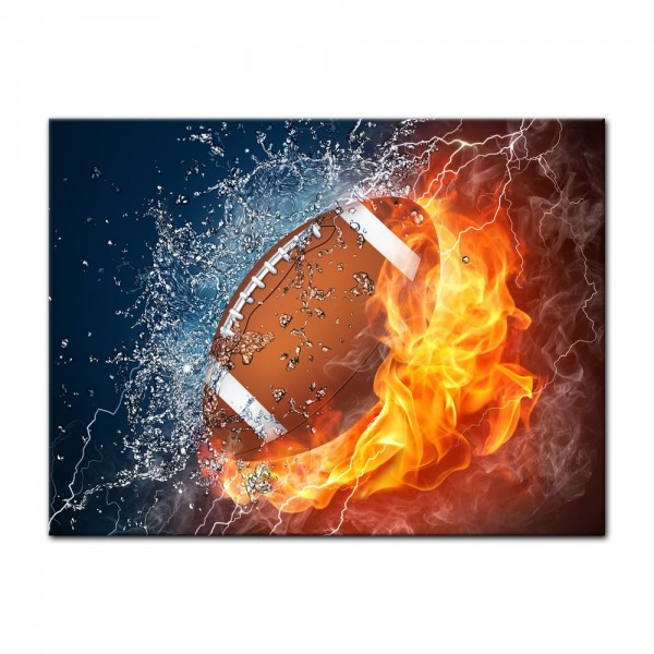 Leinwandbild - Football - Feuer und Eis