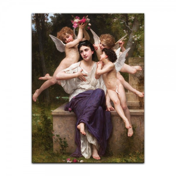 Leinwandbild - William-Adolphe Bouguereau - Ein Traum vom Frühling