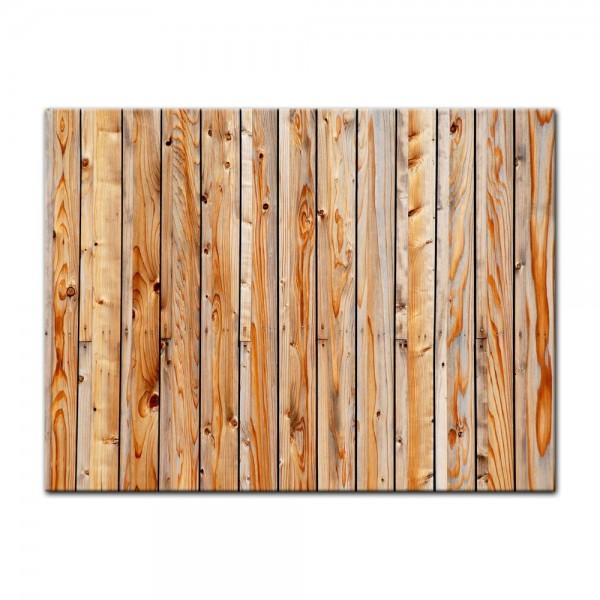 Leinwandbild - Holzplanken