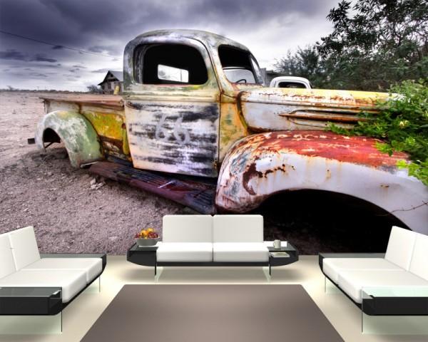 Fototapete Alter Rustikaler Truck