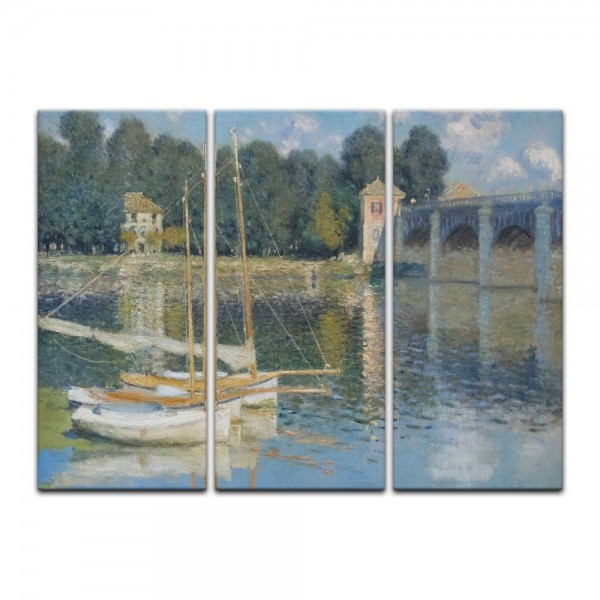 Leinwandbild - Claude Monet - Brücke von Argenteuil