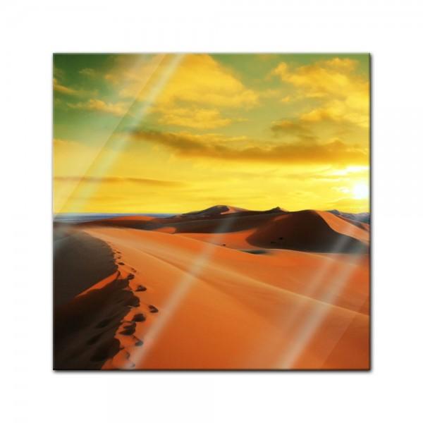 Glasbild - Sahara - Wüste in Afrika II
