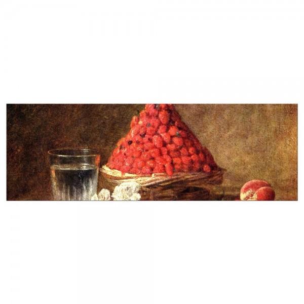 Leinwandbild - Jean Siméon Chardin - Der Erdbeerkorb
