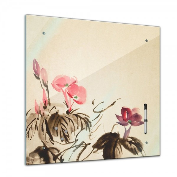 Memoboard - Aquarelle - Chinesische Blume III - 40x40 cm