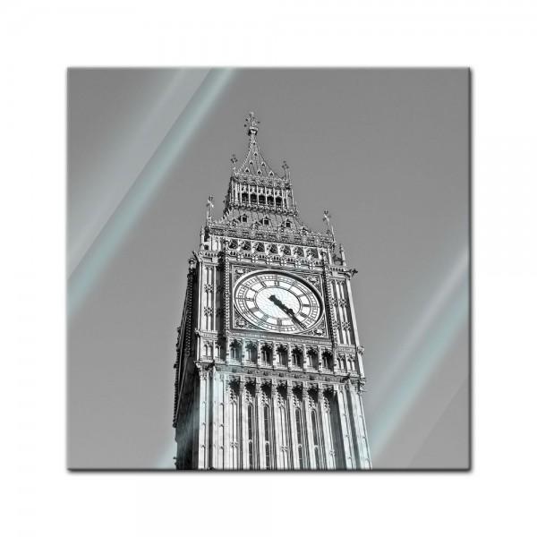 Glasbild - Big Ben sw