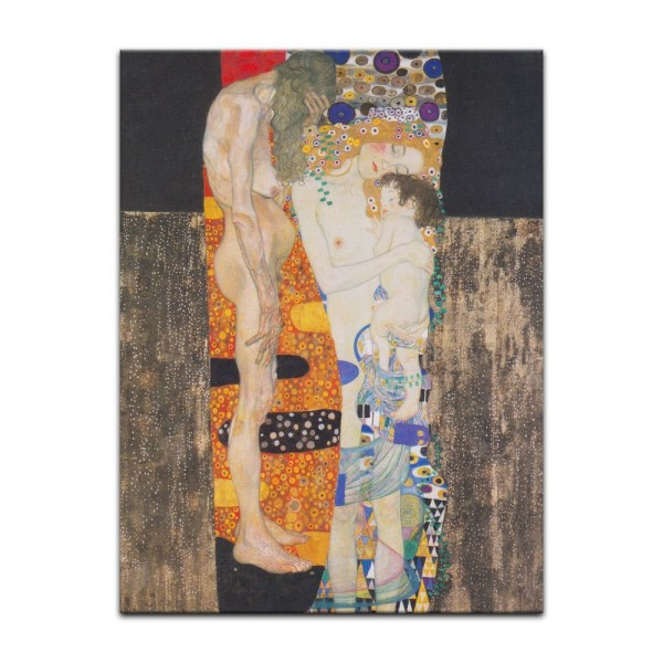 Leinwandbild - Gustav Klimt - Die drei Lebensalter der Frau