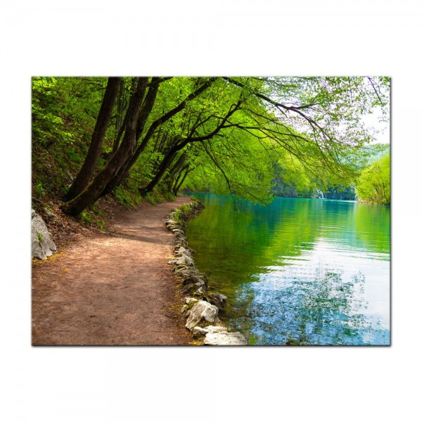Leinwandbild - Flussufer