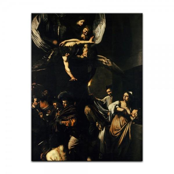 Leinwandbild - Caravaggio - Die sieben Werke der Barmherzigkeit