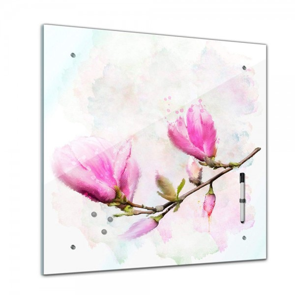 Memoboard - Pflanzen & Blumen - Magnolie - 40x40 cm
