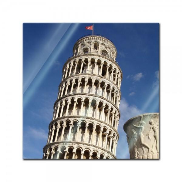 Glasbild - Der schiefe Turm von Pisa