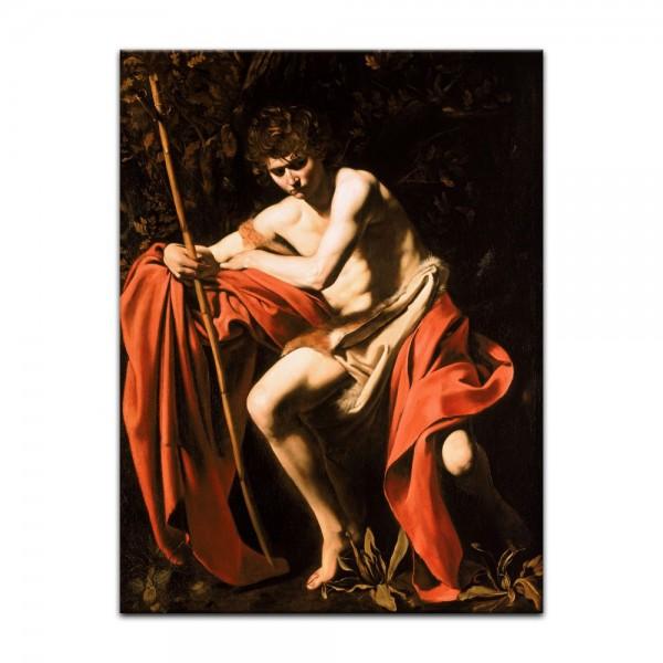 Leinwandbild - Caravaggio - Johannes der Täufer