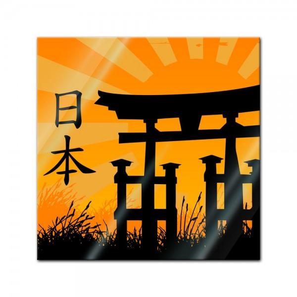 Glasbild - Japanese Style
