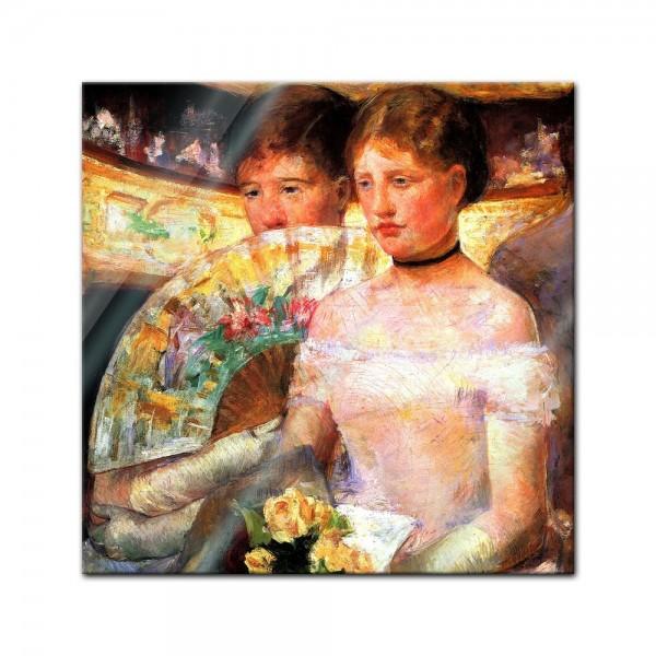 Glasbild Mary Cassatt - Alte Meister - Die Loge