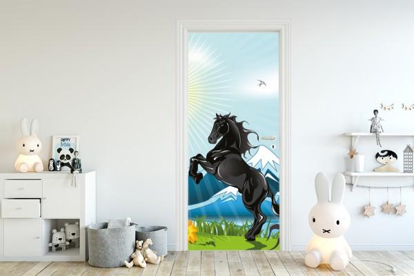 Türaufkleber - Kinderbild Pferd