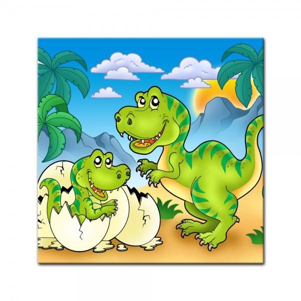 Leinwandbild - Dino Kinderbild - Tyrannosaurus Rex