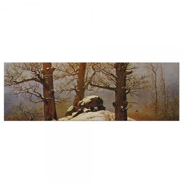 Leinwandbild - Caspar David Friedrich - Hünengrab im Schnee