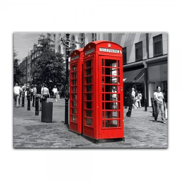 Leinwandbild - Rote Telefonzelle in London