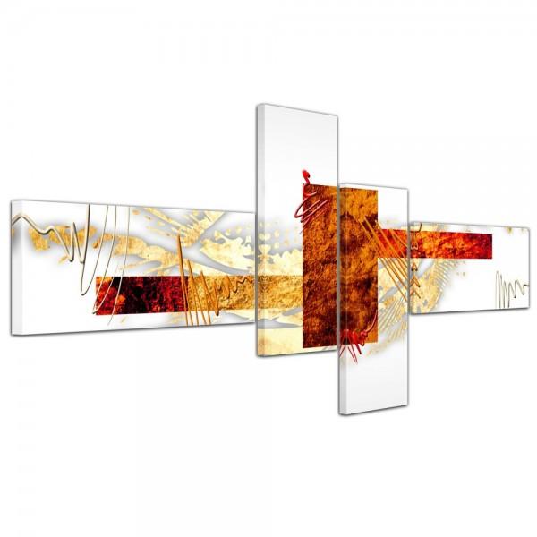 Abstrakte Kunst Abstrakt V - 140x65cm 4 teilig