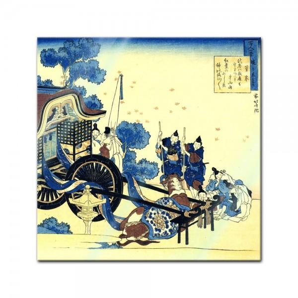 Glasbild Katsushika Hokusai - Alte Meister - Der Ochsenkarren