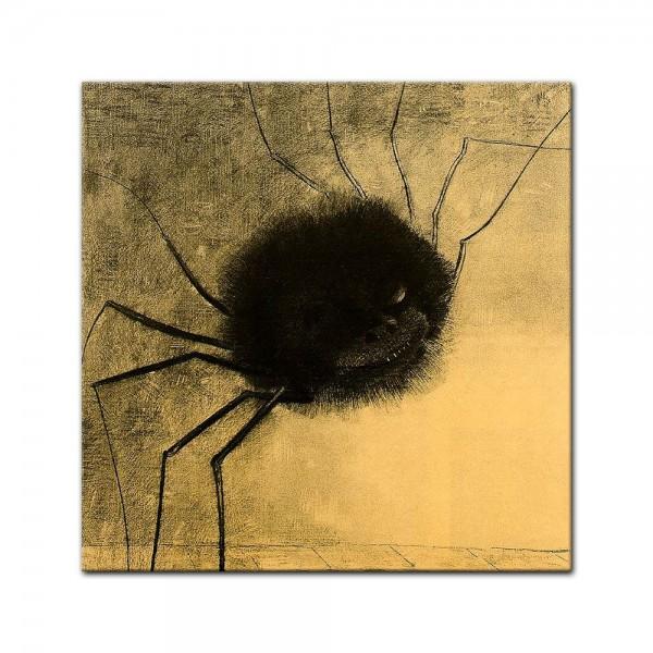 Leinwandbild - Odilon Redon - Die lächelnde Spinne