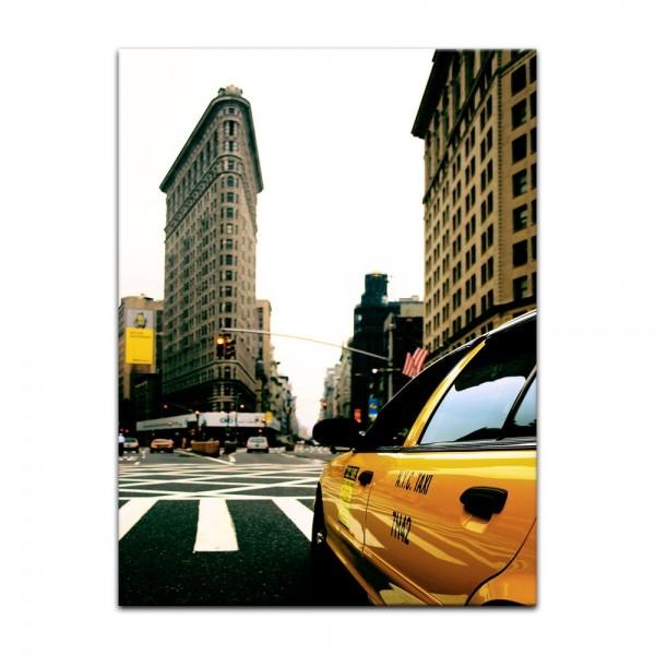 Leinwandbild - Yellow Cab - New York USA
