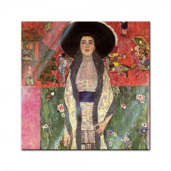 Glasbild Gustav Klimt - Alte Meister - Portrait der Adele Bloch-Bauer