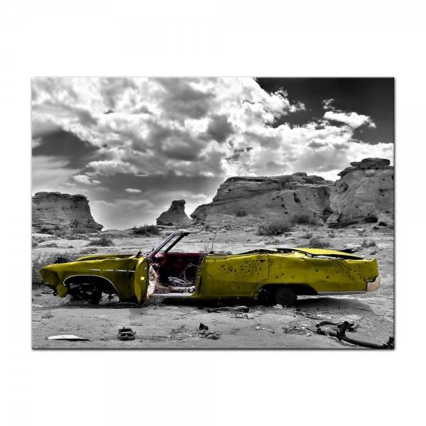 Leinwandbild - Cadillac - gelb