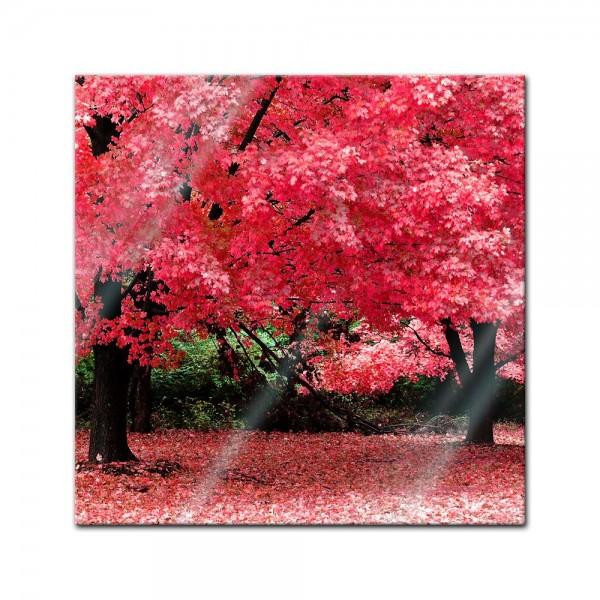 Glasbild - Herbst Abstrakt