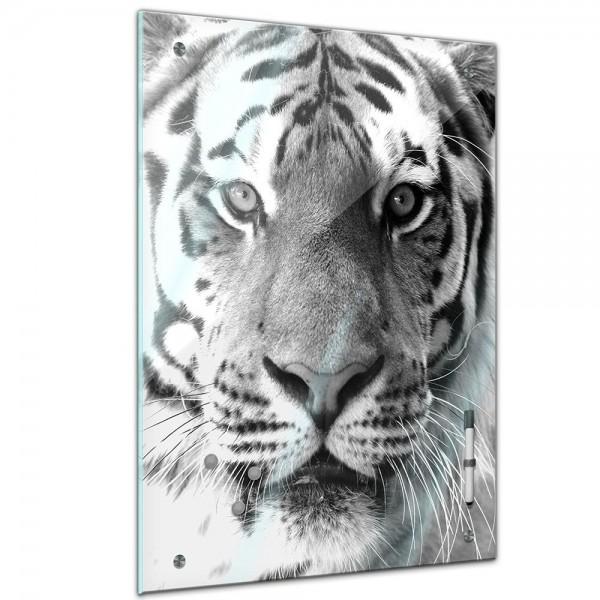 Memoboard - Tiere - Tigergesicht sw
