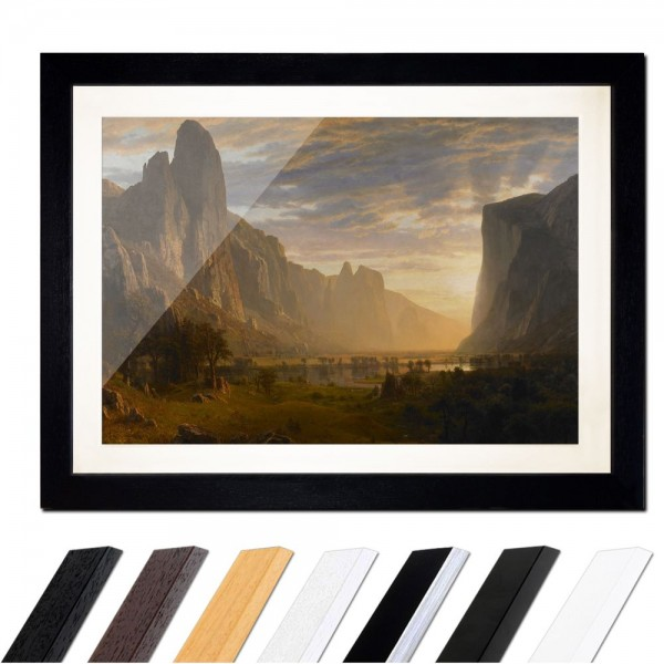 Albert Bierstadt - Looking Down Yosemite Valley, California