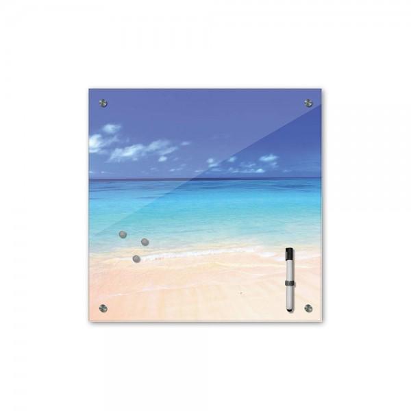 Memoboard - Landschaft - Bahamas - 40x40 cm