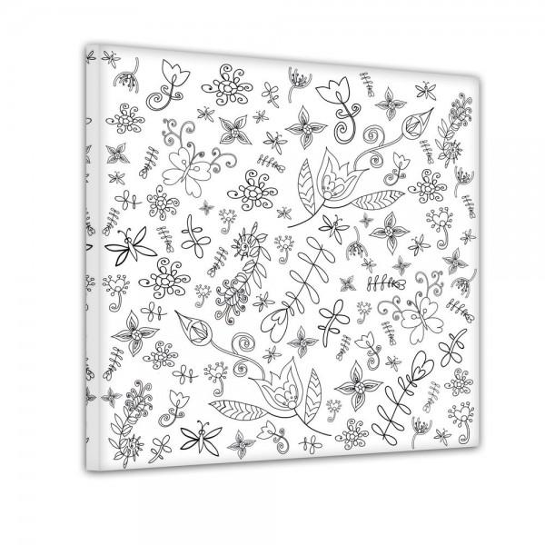 stilisierte Blumen - Ausmalbild