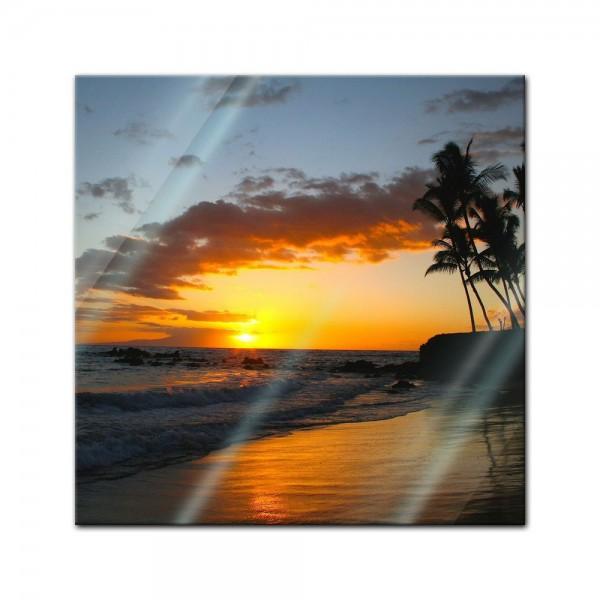 Glasbild - Makena beach - Hawaii USA