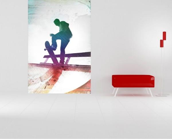 Fototapete Grungy Skateboarder