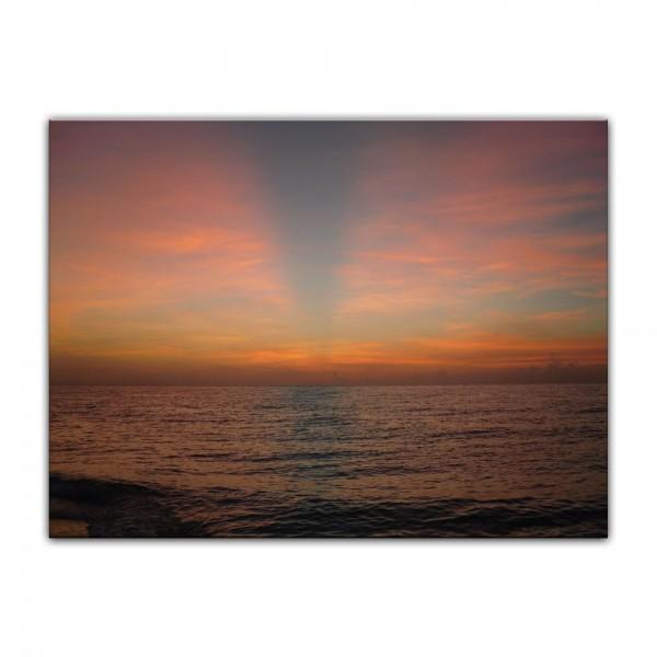 Leinwandbild - Sonnenuntergang am Meer