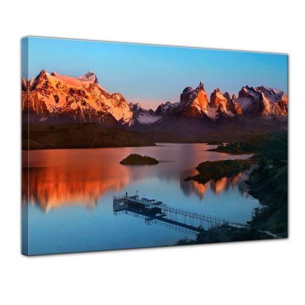 SALE Leinwandbild - Torres del Paine - Chile - 50x40 cm