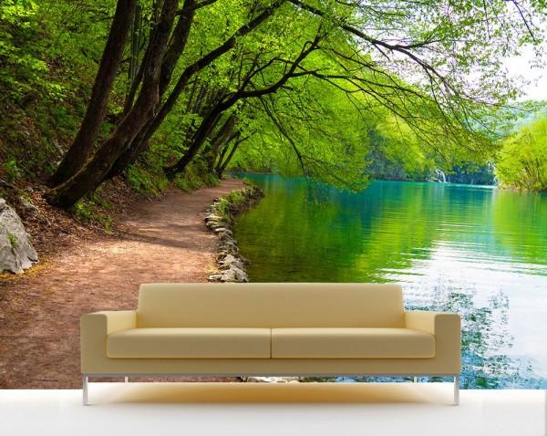 Fototapete - Flussufer
