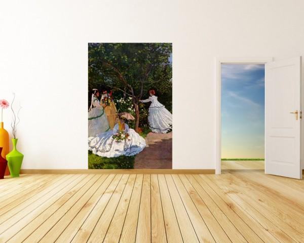 Fototapete Claude Monet - Alte Meister - Frauen im Garten