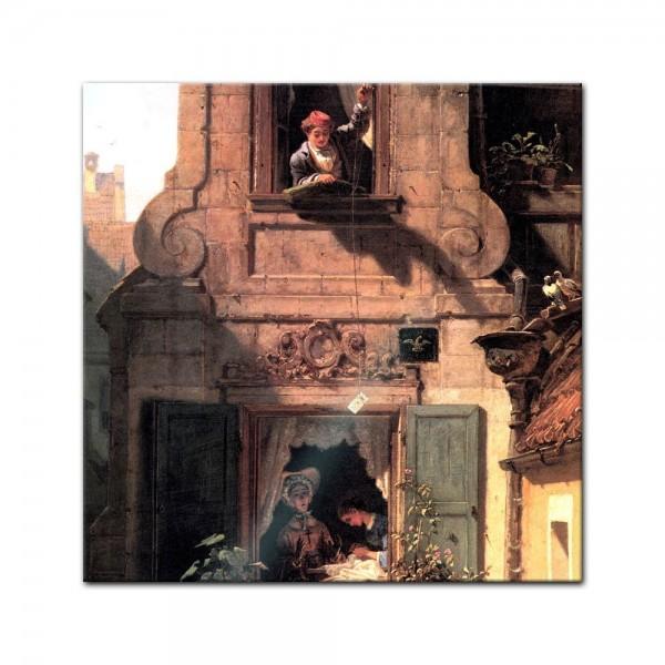 Glasbild Carl Spitzweg - Alte Meister - Der abgefangene Liebesbrief